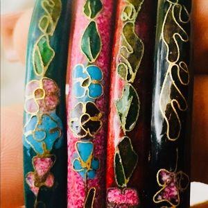 Jewelry - Cloisonné bracelet set of 4
